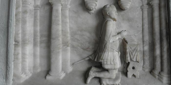 1568 AD - Humphrey Llwyd Memorial- cartographer
