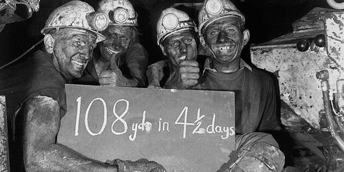 1860s to 1996 AD – Coal mining – Bersham Colliery in 1960s